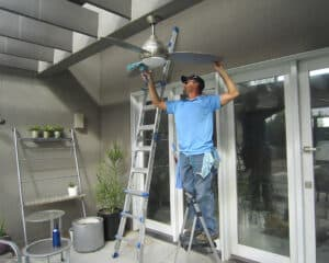 acwc cleaning ceiling fan